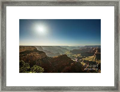 Grand Canyon Sun Framed Print
