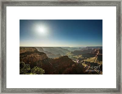 Grand Canyon Sun Framed Print