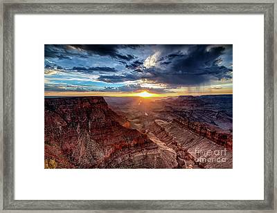 Grand Canyon Sunburst Framed Print