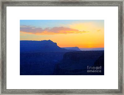 Grand Canyon Sunrise At Toroweap Framed Print by Bob Christopher