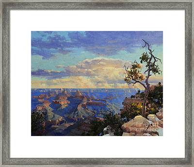 Grand Canyon Sunrise Framed Print by Gary Kim
