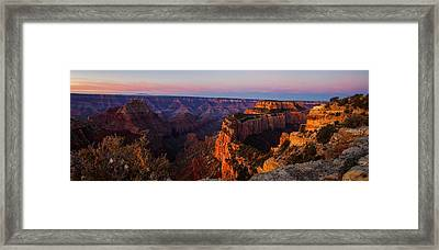 Grand Canyon Sunrise Panoramic Framed Print by Scott McGuire