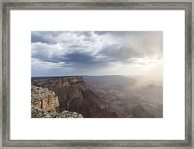 Grand Canyon Sunset Ana Clouds  Framed Print by John McGraw