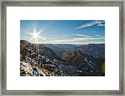 Grand Canyon Sunset Framed Print by Frank Blanscet