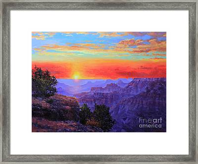 Grand Canyon Sunset Framed Print by Gary Kim
