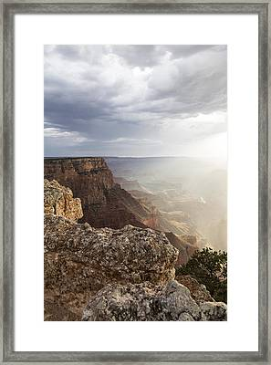 Grand Canyon Sunset Glow Framed Print by John McGraw