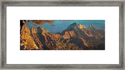 Grand Canyon Sunset Panorama Framed Print