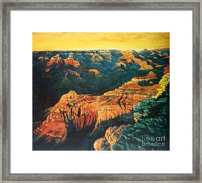 Grand Canyon Framed Print by Tierong Fu