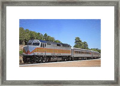 Grand Canyon Train Framed Print by Donna Kennedy