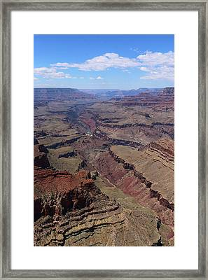 Grand Canyon View With Colorado River Framed Print