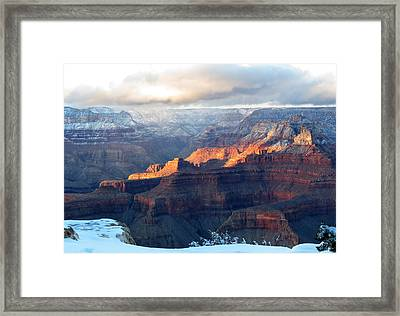 Grand Canyon With Snow Framed Print