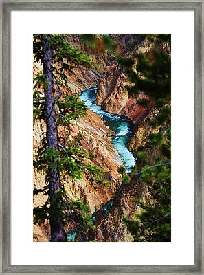 Grand Canyon  Yellowstone Framed Print by Russell  Barton