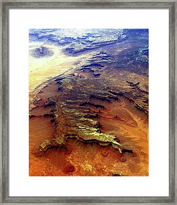 Framed Print featuring the relief Grand Canyon01 From 6mi Up by Irma BACKELANT GALLERIES