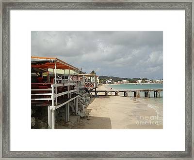 Grand Case Pier Framed Print