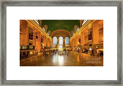 Grand Central Framed Print by Inge Johnsson