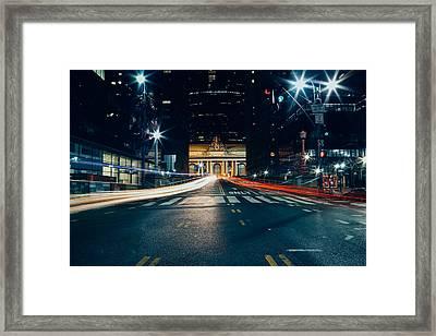 Grand Central Light Trails Framed Print by Ryan Howard