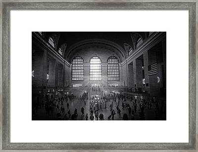 Grand Central Monochrome  Framed Print by Jessica Jenney