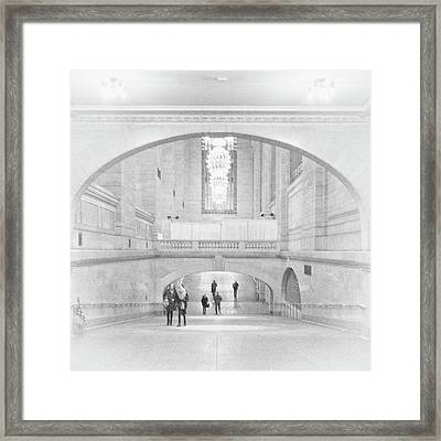 Framed Print featuring the photograph Grand Central Station by Lora Lee Chapman