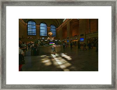 Grand Central Station Main Concourse Spotlight Framed Print