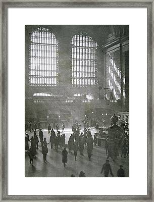 Grand Central Station, New York City, 1925 Framed Print by American School