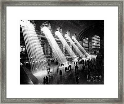 Grand Central Station New York City Framed Print by Jon Neidert