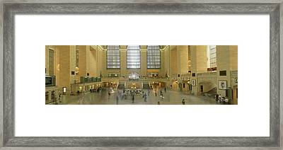 Grand Central Station New York Ny Framed Print by Panoramic Images