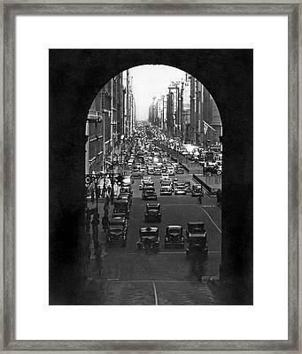 Grand Central Station Portal Framed Print by Underwood & Underwood