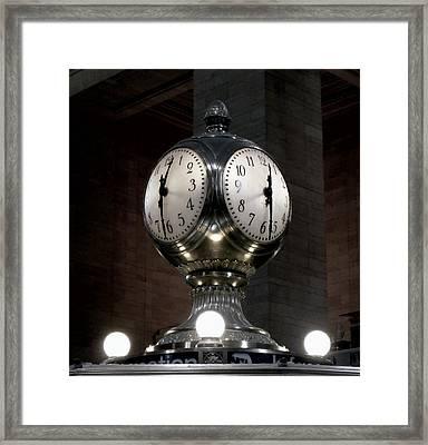 Grand Central Terminal Clock  N Y C Framed Print by Daniel Hagerman
