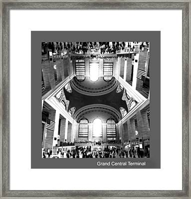 Framed Print featuring the photograph Grand Central Terminal Mirrored by Diana Angstadt