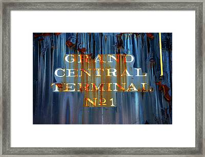 Framed Print featuring the photograph Grand Central Terminal No 1 by Karol Livote