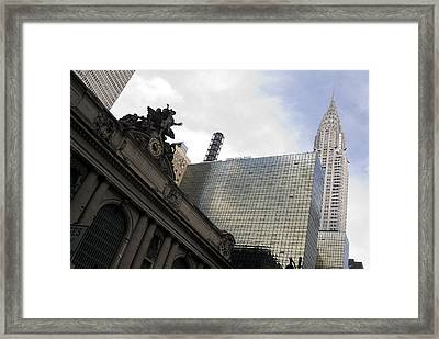 Grand Central And The Chrysler Building Framed Print