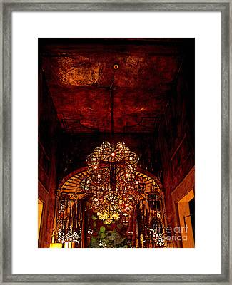 Grand Chandelier Framed Print by Mexicolors Art Photography