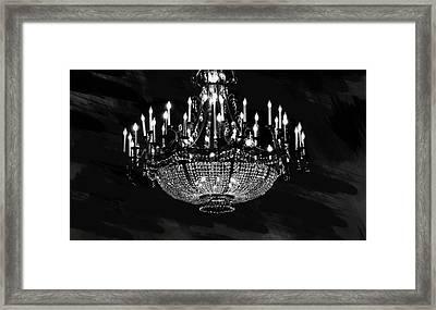 Grand Chandelier  Framed Print by Art Spectrum