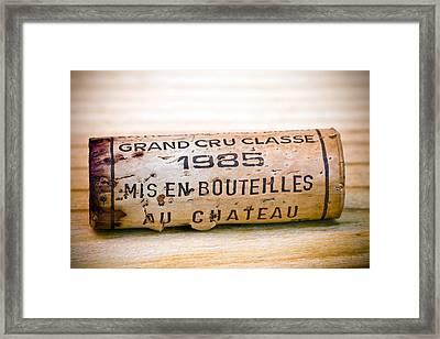 Grand Cru Classe Bordeaux Wine Cork Framed Print