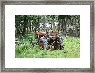 Grand Daddys Tractor Framed Print by Lisa Stanley