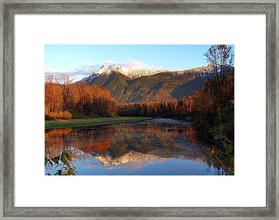 Mount Cheam, British Columbia Framed Print