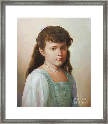 Grand Duchess Anastasia Nikolaevna Of Russia Framed Print by George Alexander