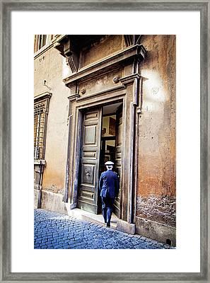 Grand Entrance - Rome, Italy Framed Print