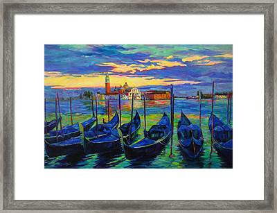 Framed Print featuring the painting Grand Finale In Venice by Chris Brandley