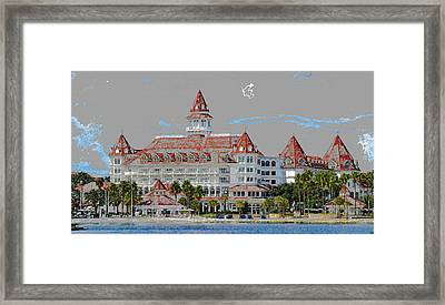 Grand Floridian In Summer Framed Print