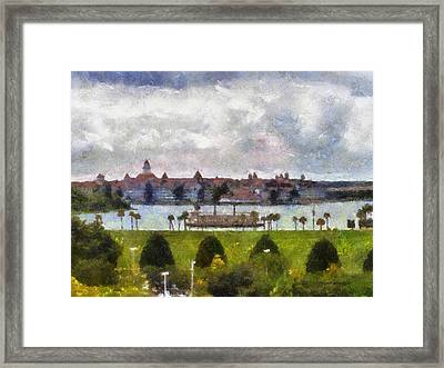 Grand Floridian Resort Disney World Framed Print by Thomas Woolworth
