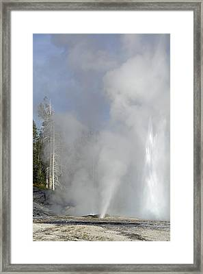 Grand Geyser Vertical Framed Print by Bruce Gourley