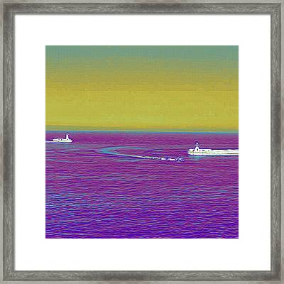 Purple Sea Framed Print