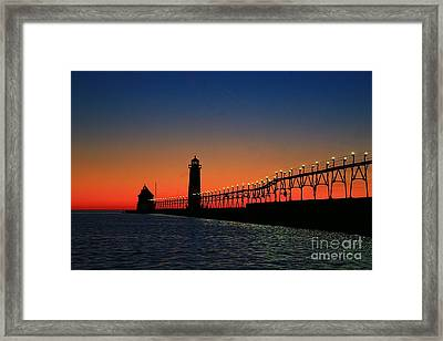 Grand Haven Light House Framed Print by Robert Pearson