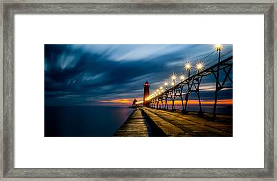 Grand Haven Lighthouse Framed Print