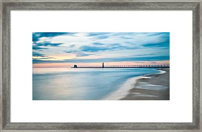 Grand Haven Pier - Smooth Waters Framed Print