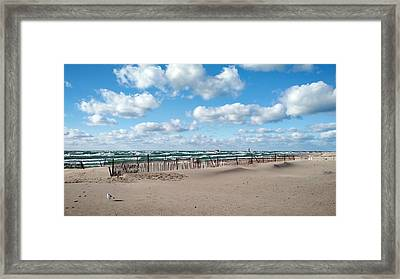 Grand Haven State Park Framed Print by Michelle Calkins