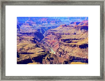 Grand Haze Canyon Framed Print