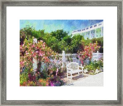Grand Hotel Gardens Mackinac Island Michigan Framed Print