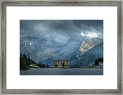 Grand Hotel Misurina Framed Print